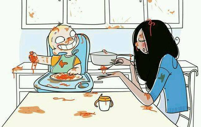 Bộ tranh siêu hài hước phơi bày đủ những sự thật bi hài khi làm mẹ!